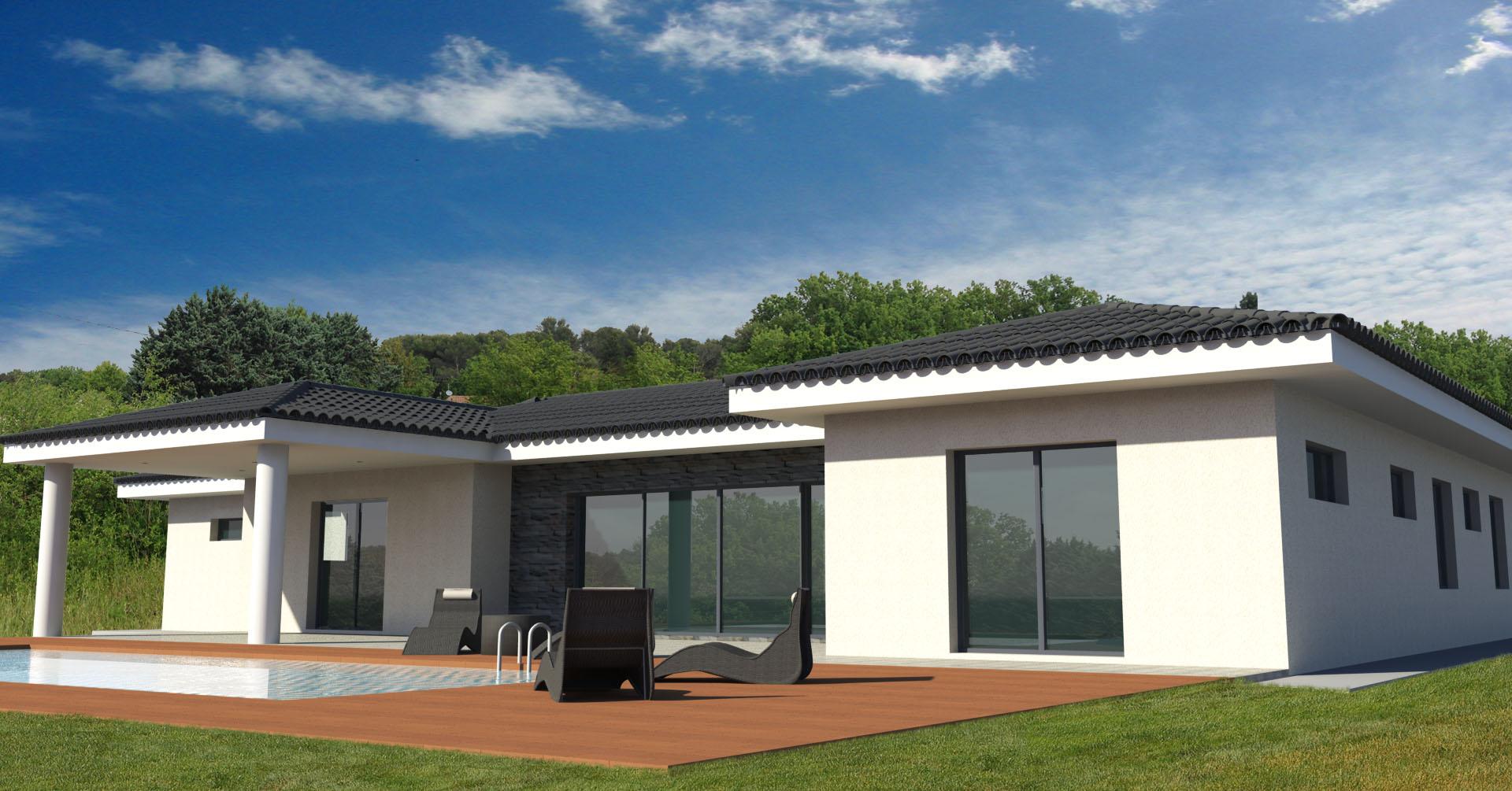 Maison individuelle permis de construire architecture contemporaine draguignan habitation for Construire une maison individuelle